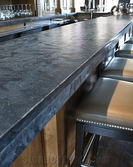 Black Soapstone Bar Top