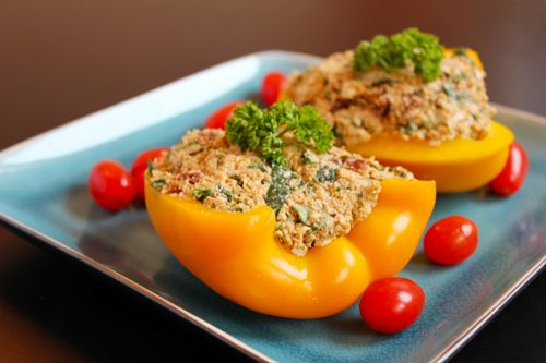 Raw Vegan Super Stuffed Peppers