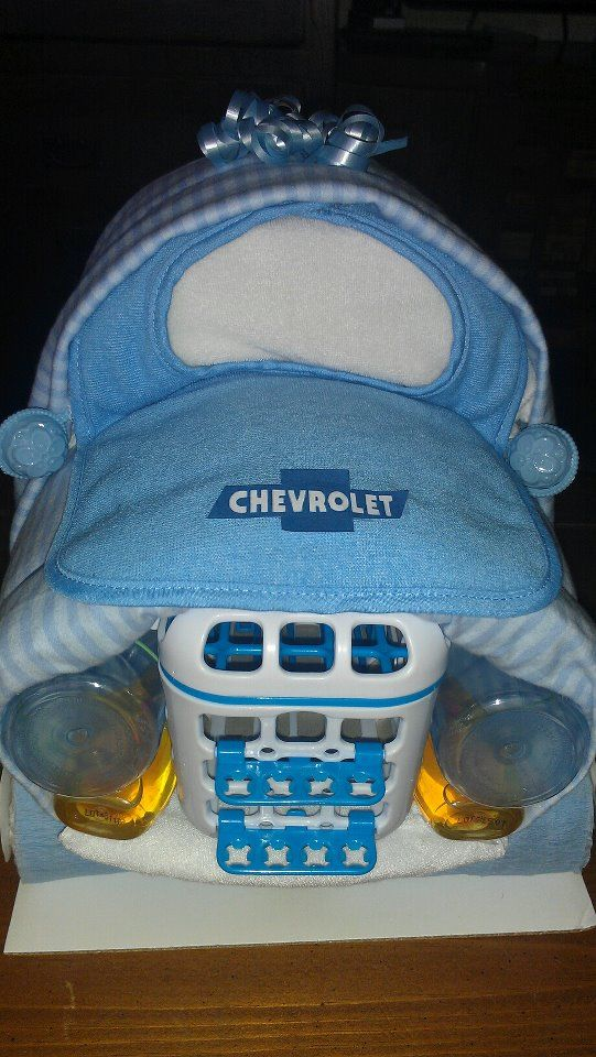 Truck Diaper Cake Includes 2 Bottles 4 Wash Cloths 2