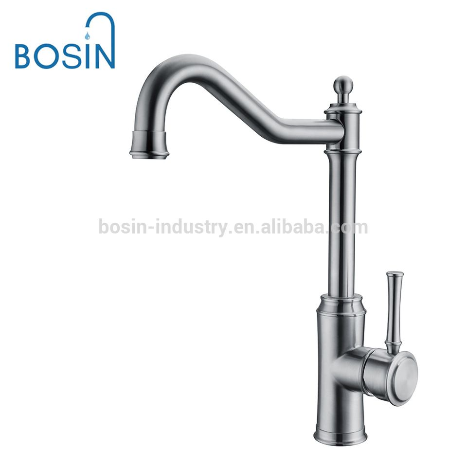 1 Way Stainless Steel Kitchen Sink Faucet Hot and Cold Water Mixer ...