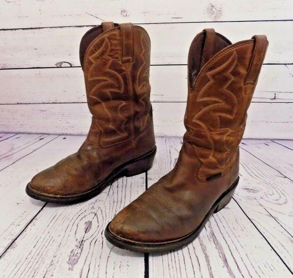 Ariat Ironside Waterproof Brown Leather Cowboys Western Work Boots Men S 11 Ee 45 99 End Date Saturday Feb 23 2019 11 22 21 P Work Boots Men Boots Boots Men