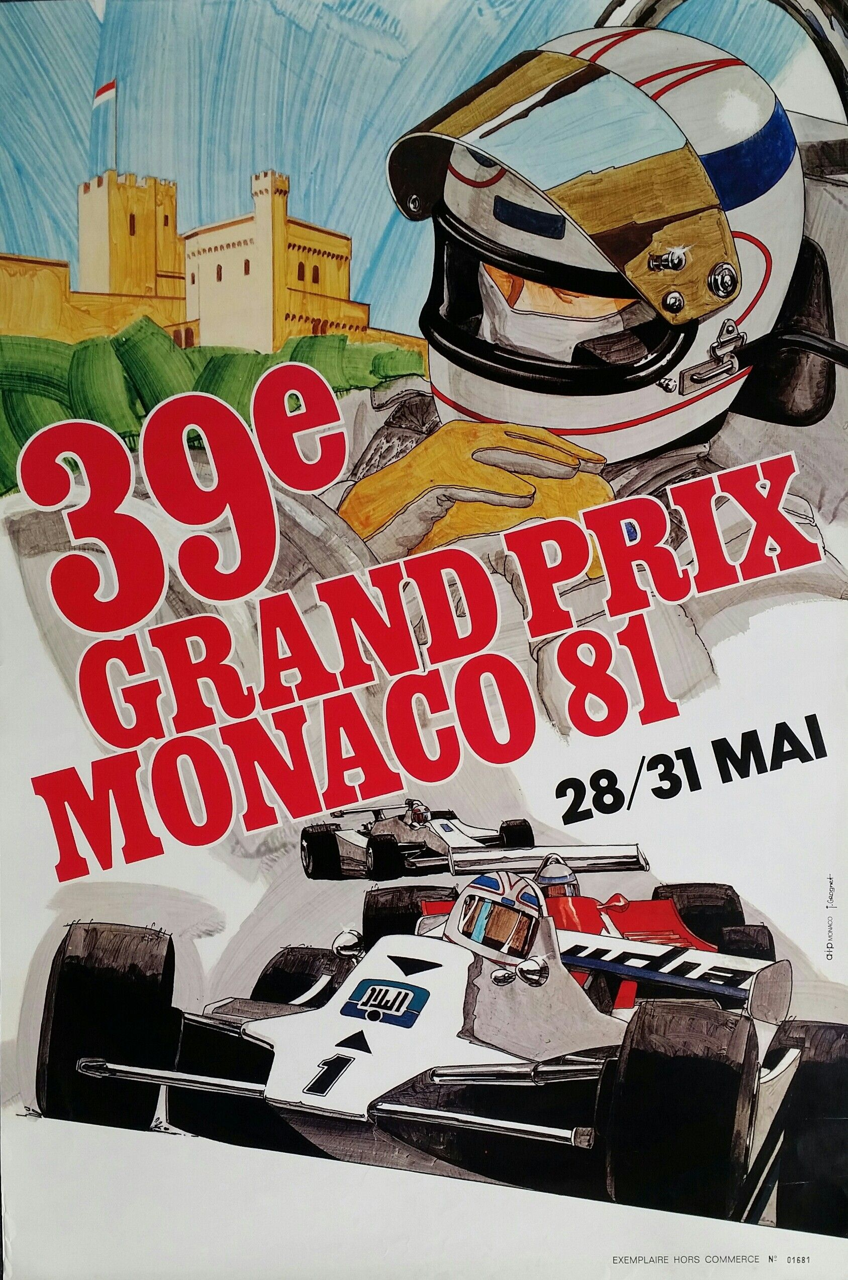 7785244b02 Original+vintage+poster+Grand+Prix+de+Monaco+1981+-+J+GROGNET