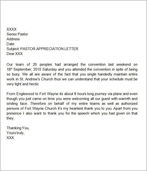 Thank You Letters For Appreciation Examples Pdf Word Letter Boss