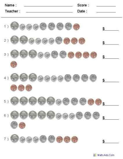FREE Printable: Customizable Counting Coins Worksheet
