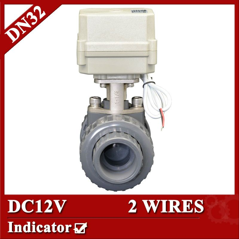 1 1 4 Dc12v Plastic Automatic Control Valve 2 Wires Control Cr201 Pvc Ball Valve Dn32 Motorized Ball Valve Control Valves Upvc Valve