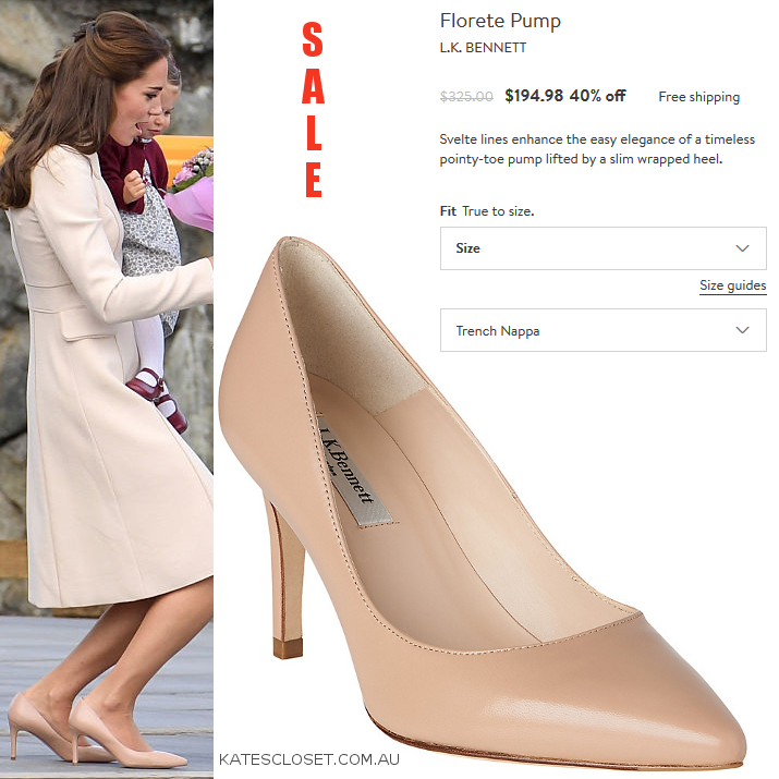f3381cf069b Kate Middleton s LK Bennett  Floret  pumps are now 40% off! Click to ...