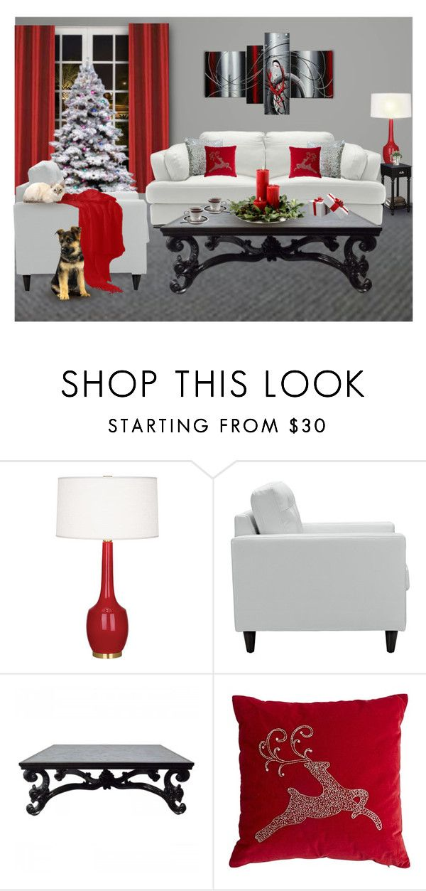 """""""THE WEEK BEFORE CHRISTMAS"""" by arjanadesign ❤ liked on Polyvore featuring interior, interiors, interior design, home, home decor, interior decorating, Robert Abbey, Pier 1 Imports, livingroom and Home"""