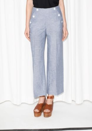 & Other Stories   High-waisted Sailor Trousers