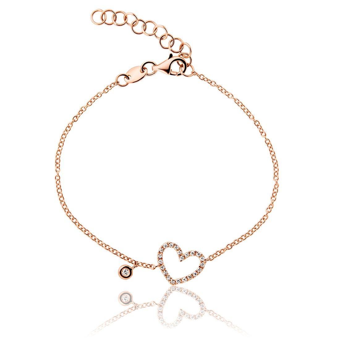 Βραχιόλι Diamonds Collection από ροζ χρυσό 18Κ με μπριγιάν 0.12ct VS F G  Διαμάντια 15bea0e2c29