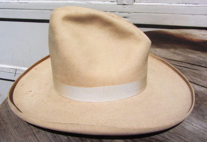 98da8b1e248d4 RARE ANTIQUE VINTAGE STETSON GUS PENCIL ROLL 1910S 1920S COWBOY   WESTERN  HAT