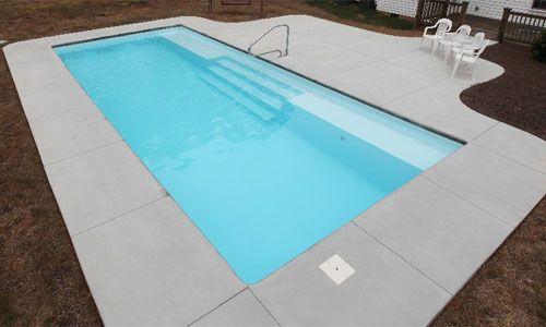 Large Rectangle Fiberglass Pool Grand Manhattan Fiberglass Pools Indoor Swimming Pool Design Indoor Swimming Pools