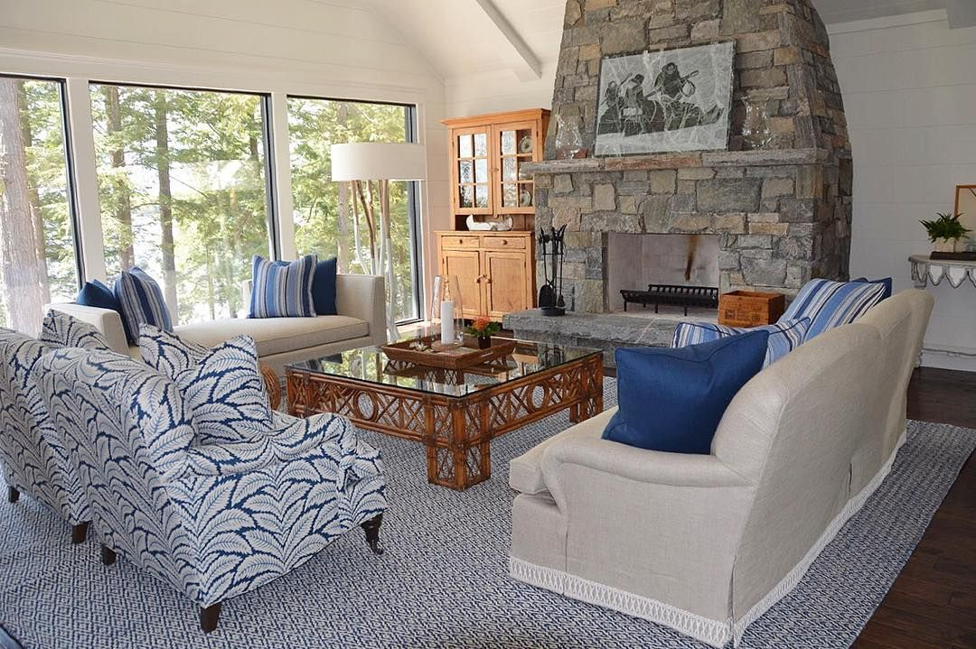 yesterday's site visit.. cottage living room complete! # ...