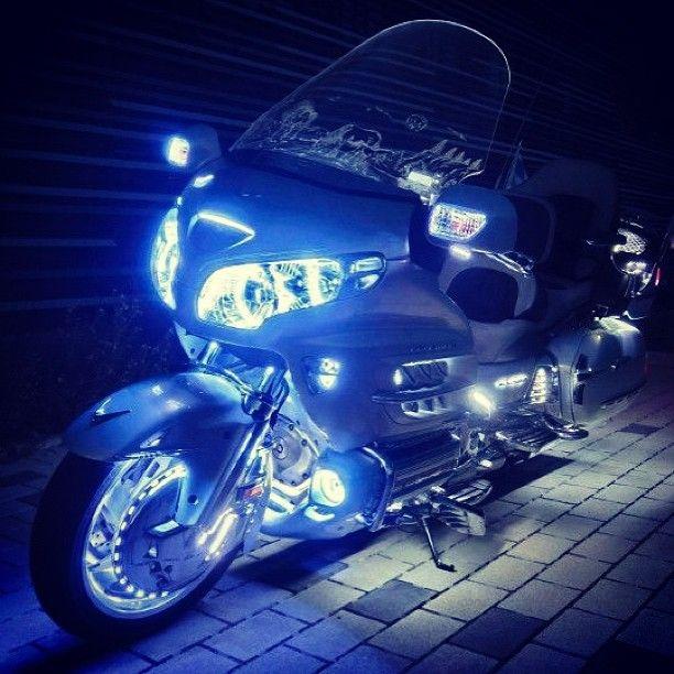i love white leds #honda#goldwing#hondagoldwing#bike#motorcycle#gold#wing #white#led#touring#travel#passion#love#style#culture#style#