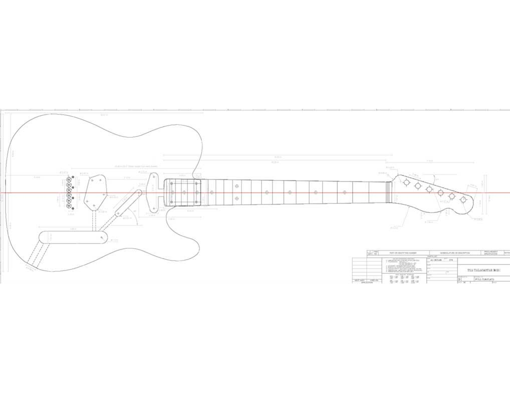 Printable templates for the Telecaster (Custom, Deluxe, Thinline ...