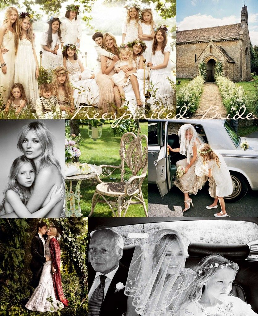 Kate moss wedding dress  KATE MOSSuS WEDDING DAY BOHO BEAUTIFUL   BOHEMIAN  Pinterest