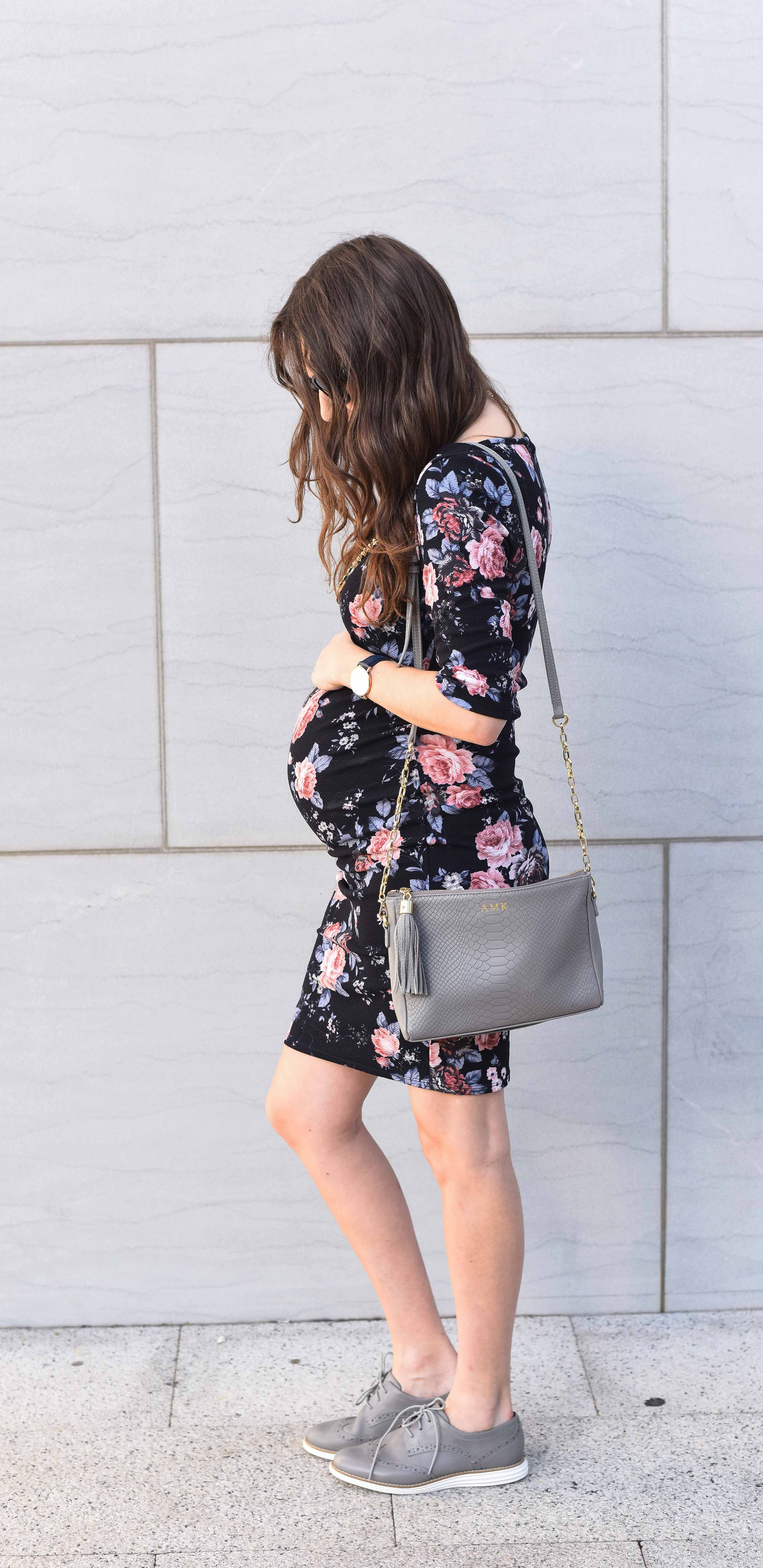 A fitted floral maternity dress floral maternity dresses a fitted floral maternity dress ombrellifo Choice Image