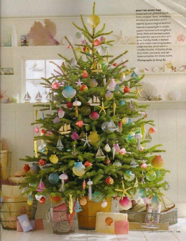 Nantucket Christmas Beach, Christmas tree and Holidays - how to decorate a small christmas tree