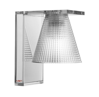 Applique Light Air / Abat-jour plastique sculpté Cristal / Miroir ...