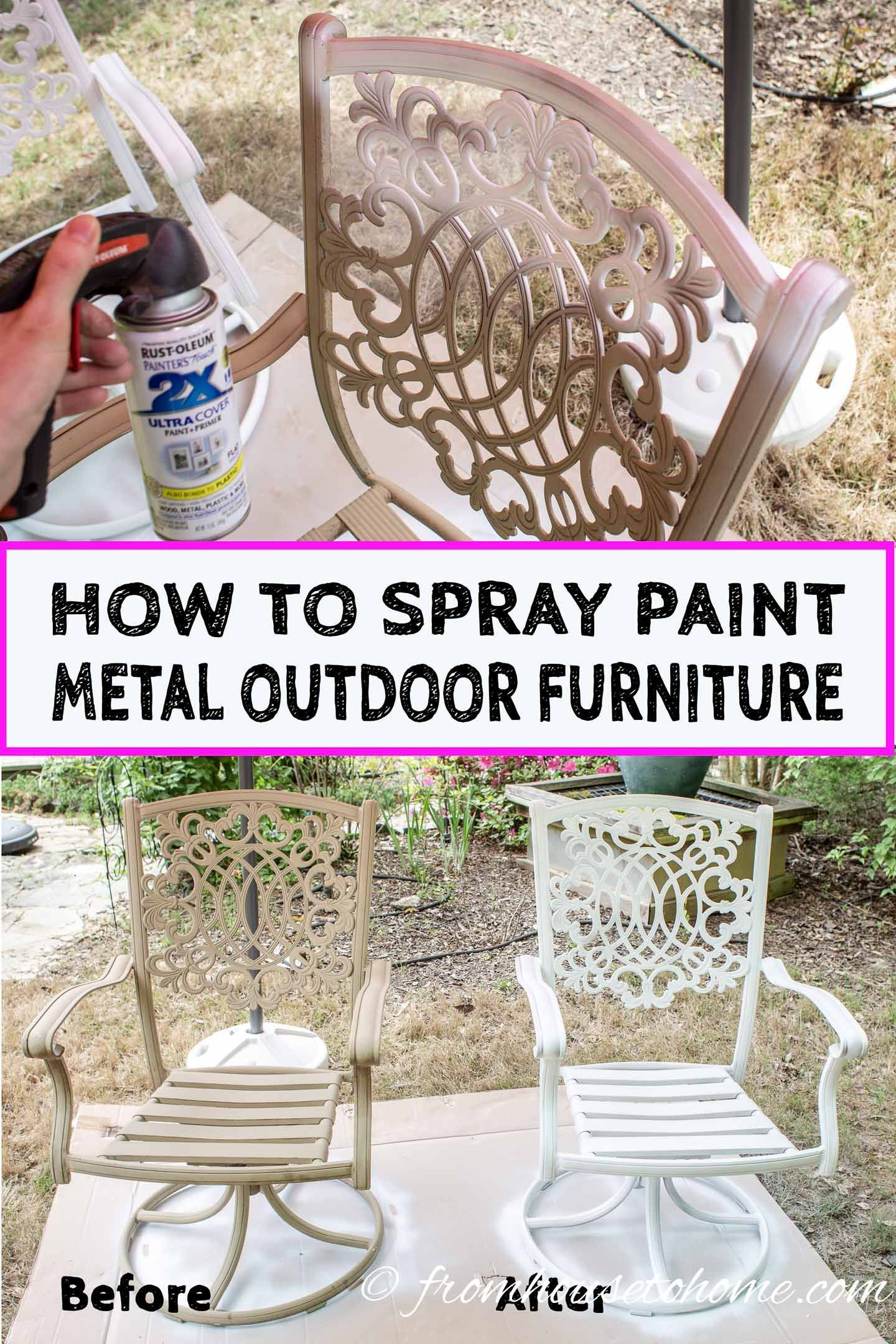 How To Paint Metal Patio Furniture With Images Painting Metal