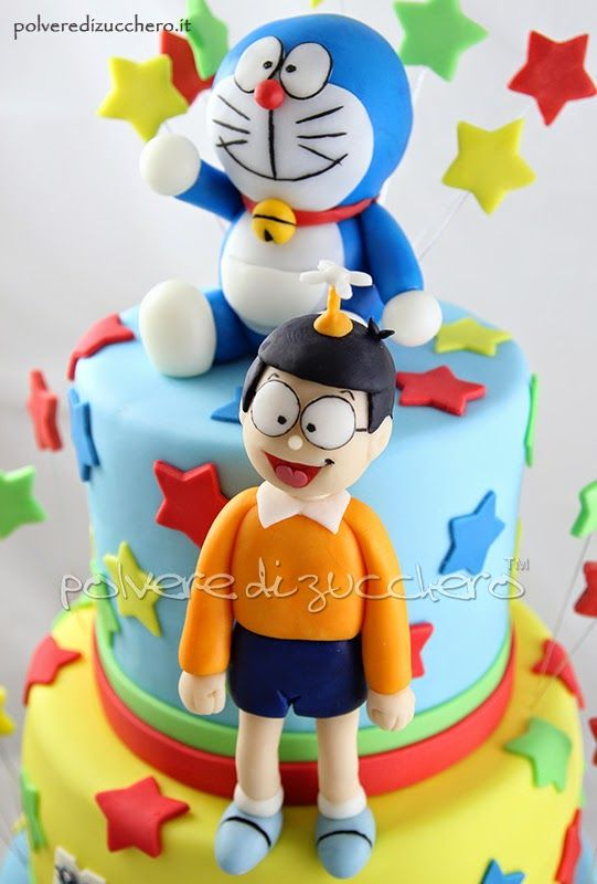torta doraemon e nobita  Sugar art Polvere di Zucchero