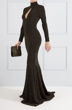 bf7d458c386 Forever Unique - Fiona Black and Gold Maxi Dress (TF5218 ...