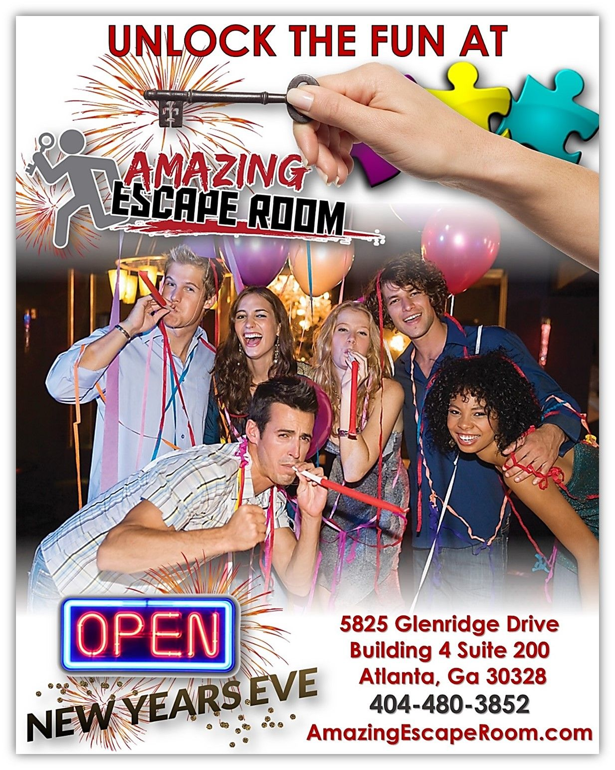 Things To Do In Atlanta This New Years Eve Amazing Escape Room Sandy Springs Live