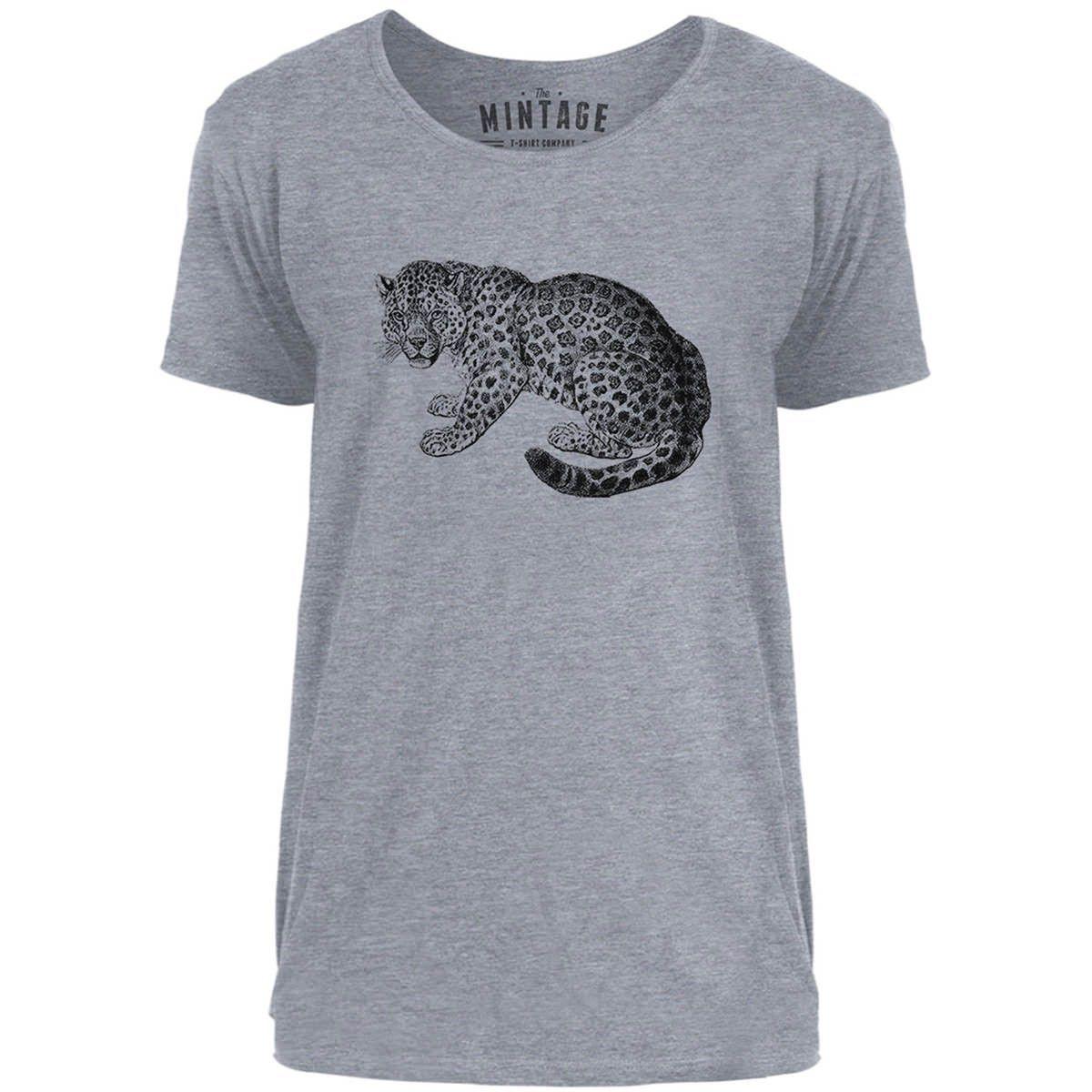 Mintage Little Cheetah Mens Scoop Neck T-Shirt