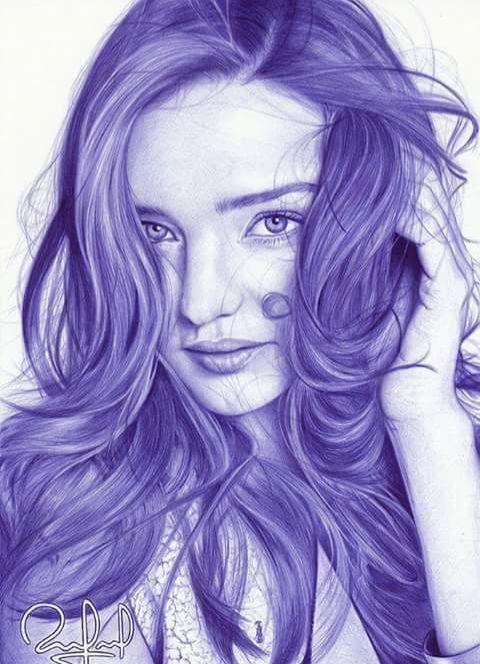 Ballpoint pen drawings by Rafael Augusto