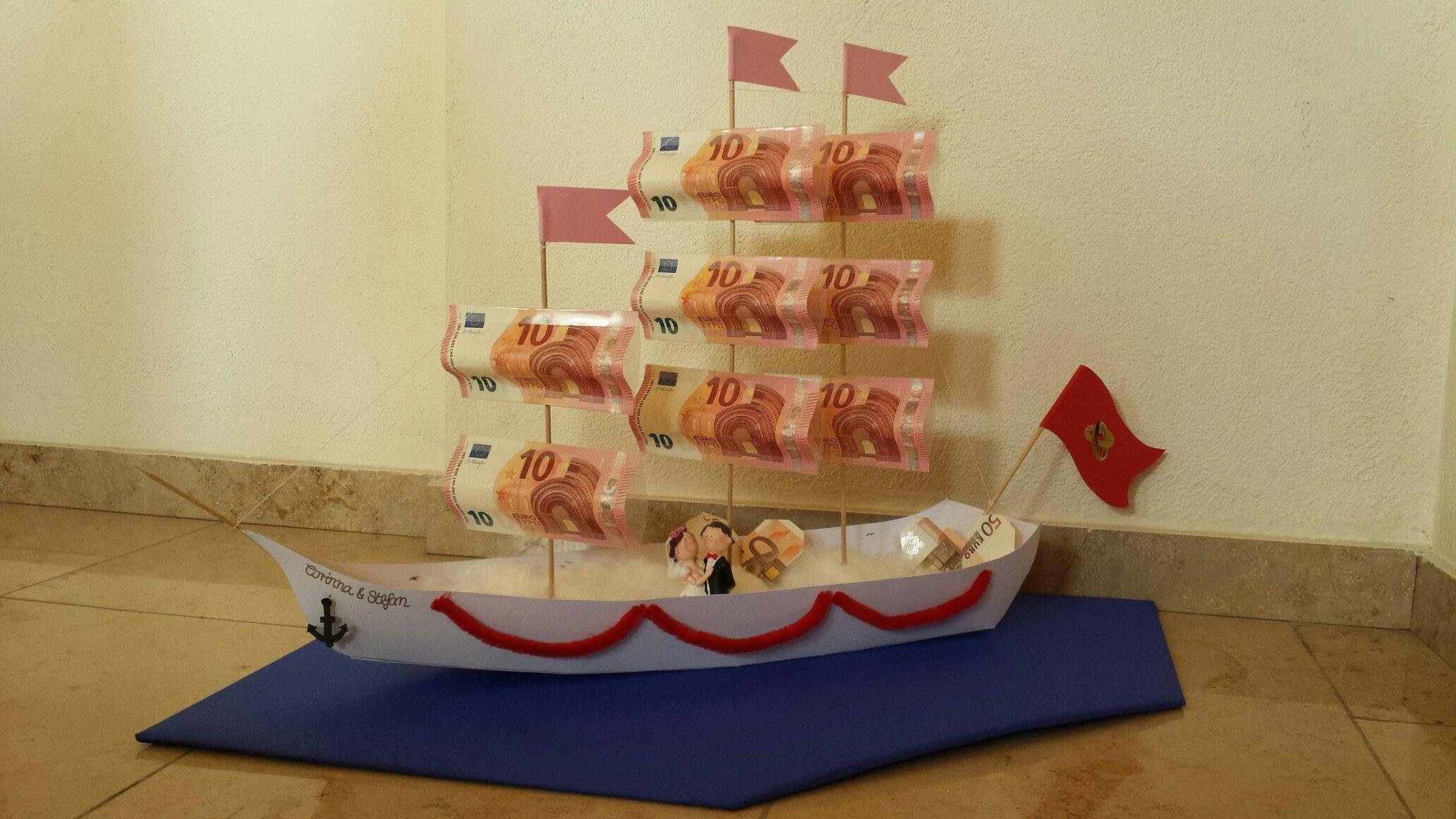DIY Geldgeschenk zur Hochzeit  Segelschiff