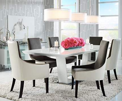 Large Drum Pendants Light A Long Dining Room Table