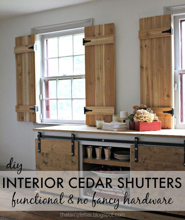 Diy Interior Cedar Shutters Pretty Handy Girl Mit Bildern