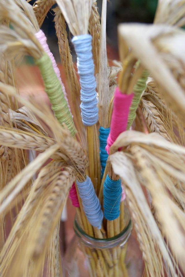 Sommerliche Tischdeko mit Getreide - Welcome to Blog