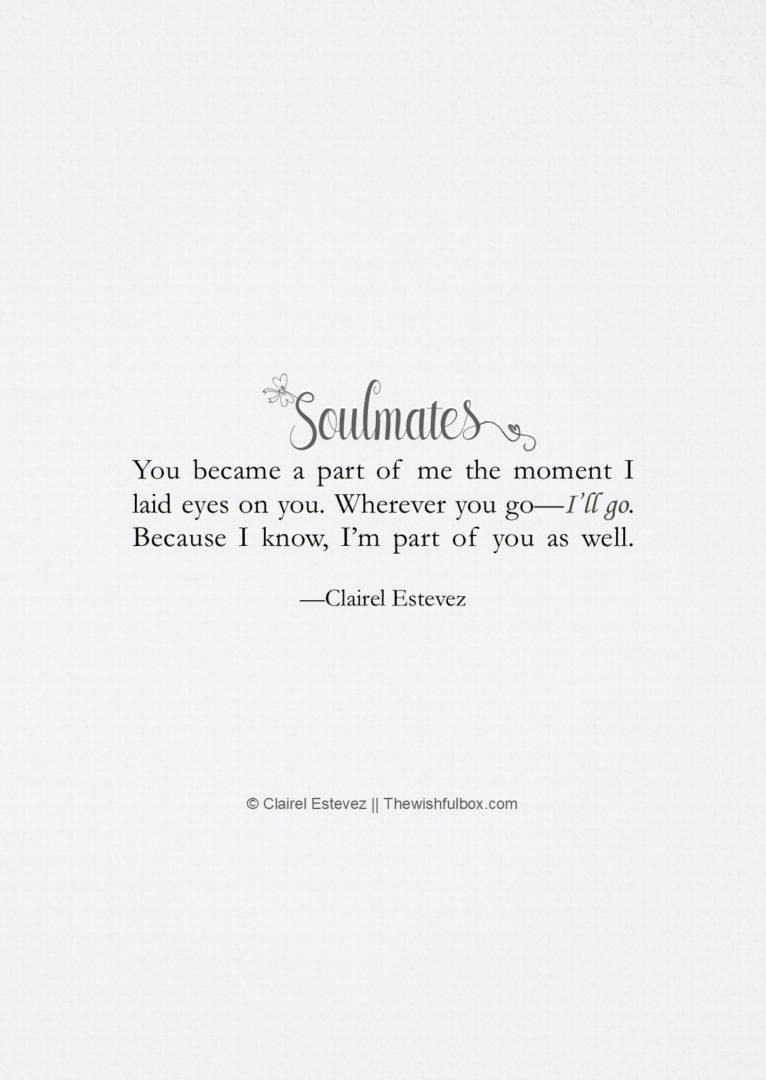 Poems short soulmate Soulmate Poems