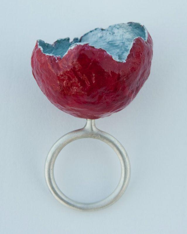 Ring by Dorothea Stamatopoulou, Silver, papier mache - Anamma