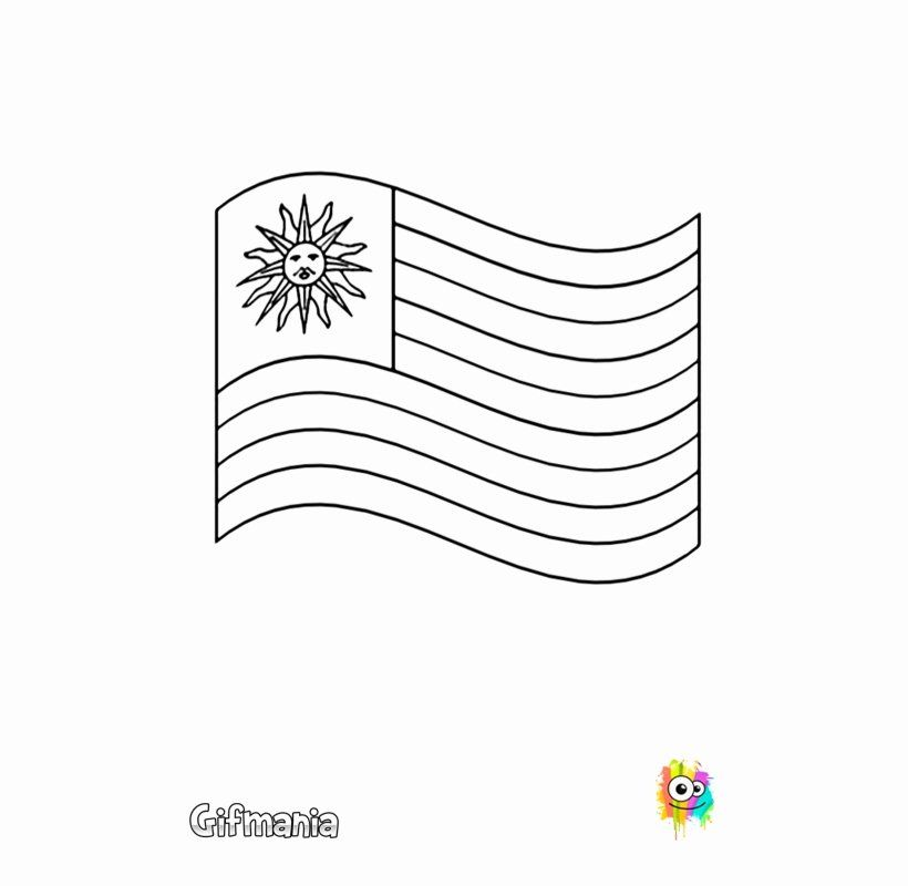 Uruguay Flag Coloring Page Elegant Discover The Flag Uruguay With