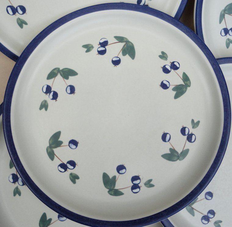 Laurentian Dinner Plate (s) Blueberry Pattern Art Pottery Canada 1970s Stoneware & Laurentian Dinner Plate (s) Blueberry Pattern Art Pottery Canada ...