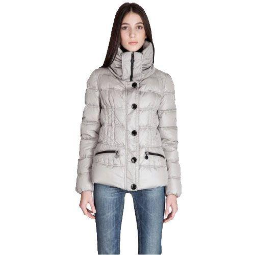 Moncler Vosges Womens Jackets Large Lapel Grey [2899974] - 137.25 : 5% off