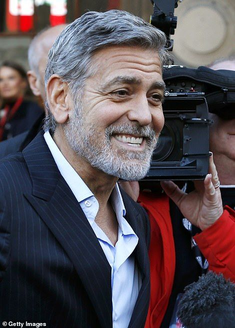 George Clooney Poses With Stunning Wife Amal At Event In Edinburgh
