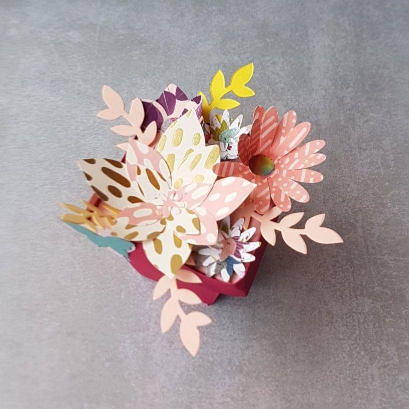Un bouquet pour ma Maman - 10 doigts et 1 cupcake