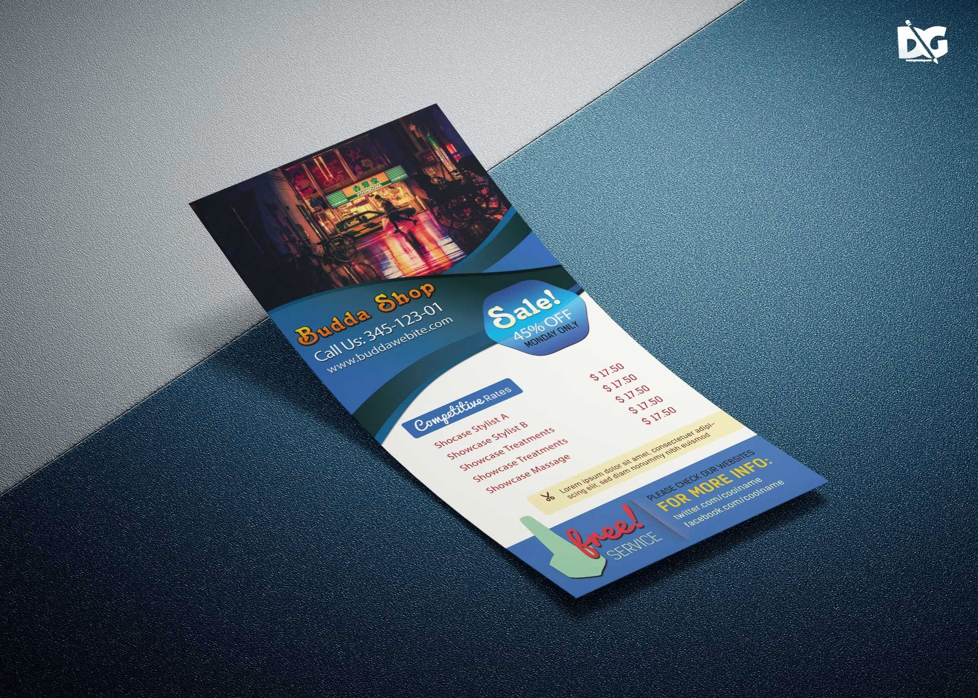 Flyer Psd Template Free Download Inspirational Free Download Dj Host Rack Card Psd Template Rack Card Templates Free Business Card Templates Rack Card