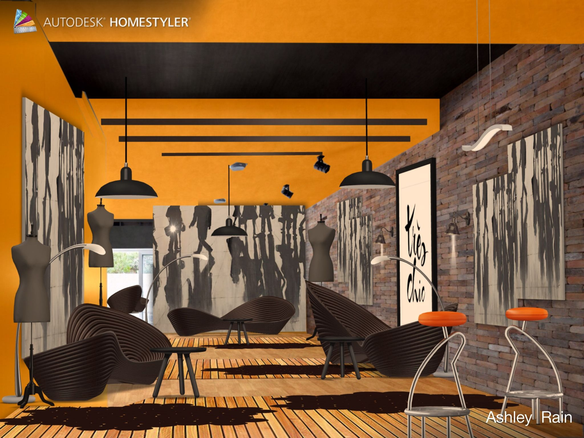 """Check out my #interiordesign """"Tres Chic Wi-Fi Coffe House"""" from #Homestyler http://autode.sk/1ghns0A"""