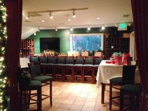 The Wine Shop ready for a Holiday Event!