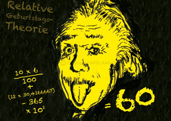 Einladung 60 Geburtstag Einstein Von Cardlaan Auf Dawanda Com