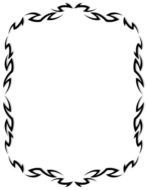Tribal Border Clip Art Page Border And Vector Graphics Clip Art Borders Borders And Frames Tribal