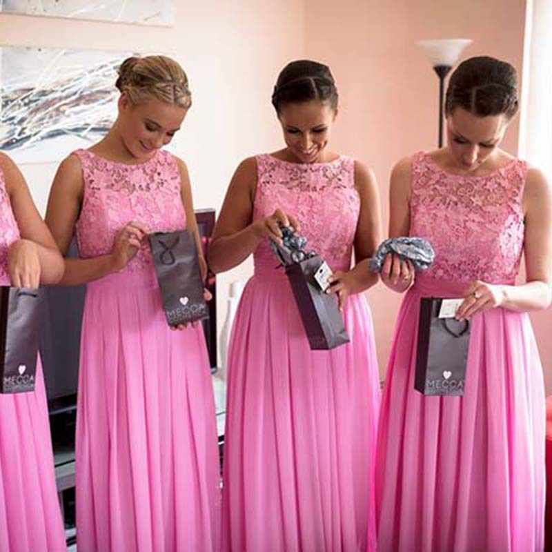 fuschia Pink lace bridesmaid dresses - Google Search | Wedding ...