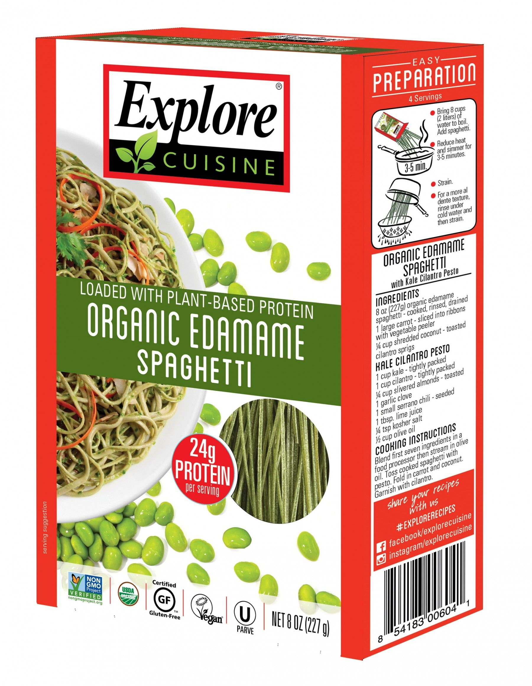 Organic Edamame Spaghetti Bean Pastas Products With Images