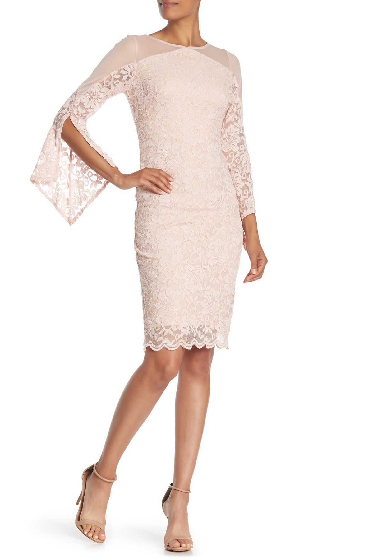Marina Lace Mesh Panel Midi Dress Nordstrom Rack Midi Dress Dresses Nordstrom Dresses [ 1800 x 1200 Pixel ]