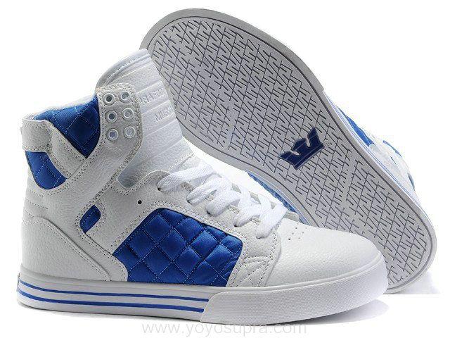 New Balance Shoes Cheap Hot - Chad Muska Skytop High Top Mens White/Blue/Lattice Shoes The Supra Sho