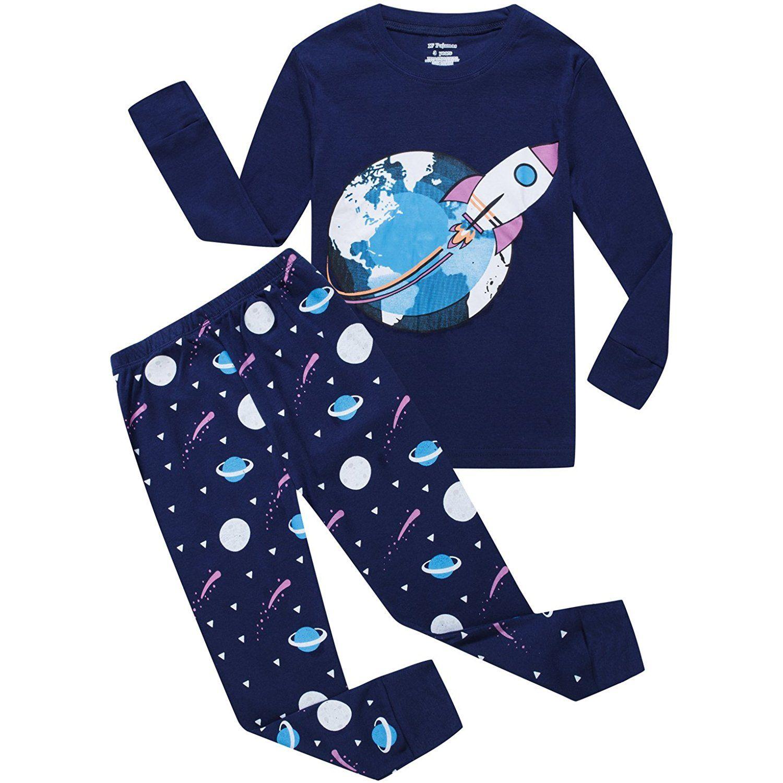 5b741897 Boys Pajamas Dinosaur Little Kids Pjs Sets 100% Cotton Toddler ...