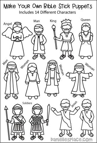 Make Your Own Bible Stick Puppets Plants Preschool